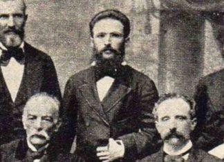 Władysław Kluger (w centrum), Peru 1874, domena publiczna